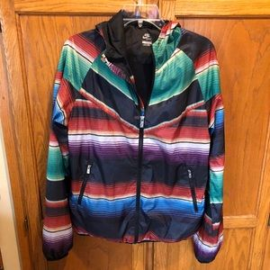 Nike multicolored hooded windbreaker jacket